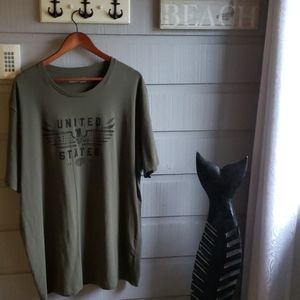 UA 3X Loose Fit Eagle Olive Drab T-shirt